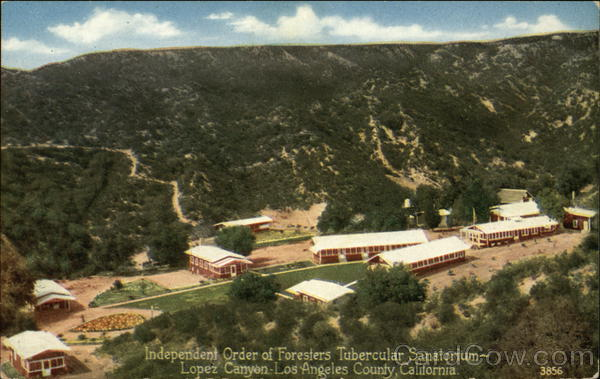 Independent Order of Foresters, Tubercular Sanatorium- Lopez Canyon Los Angeles California