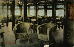 Observation Room and Cafe on Steamer Adirondack People's Line