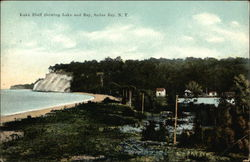 Lake Bluff showing Lake and Bay Postcard