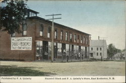 Blaisdell Block and F. A. Quimby's Store