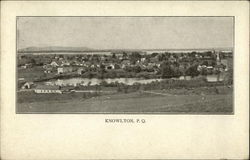 Panoramic View of Town Postcard