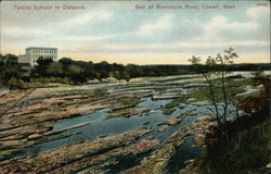 Bed of Merrimack River with Textile School in Distance