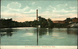 Scene on Chicopee River Postcard