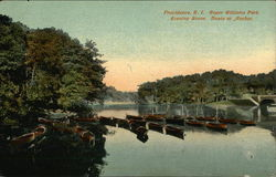 Roger Williams Park, Evening Scene, Boats at Anchor