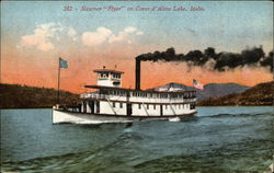 "Steamer ""Flyer"" on Coeur d'Alene Lake"
