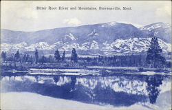 Bitter Root River and Mountains