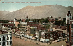 Town View, Looking toward the Wasatch Mountains
