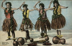 Hawaiian Hulu Hulu Dancers