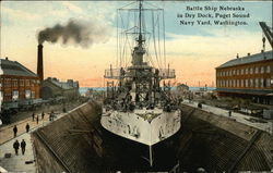 Battle Ship Nebraska in Dry Dock, Puget Sound Navy Yard
