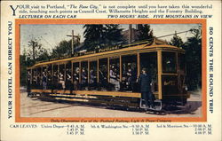 Tourist Daily Observation Car of the Portland Railway - Advertisement