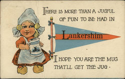 Lankershim General Greeting with Dutch Girl and Poem