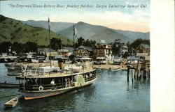"""The Empress,"" Glass Bottom Boat. Avalon Harbor"