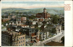 View From Court House, Looking West Towards High School Postcard