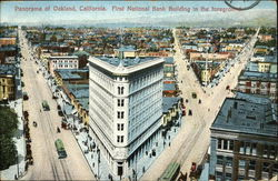 Panorama View with First National Bank Building in the Foreground