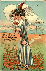 Homely Woman - A Wild Rose in the California Poppy Fields - Comical