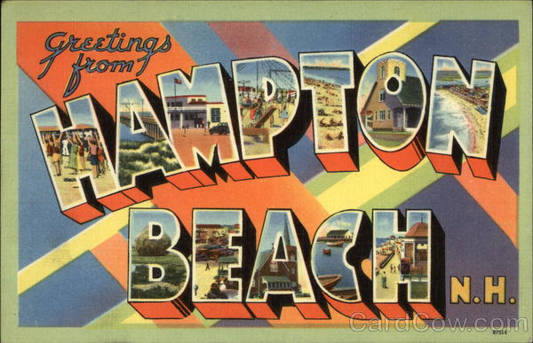 Greetings from Hampton Beach, New Hampshire Large Letter