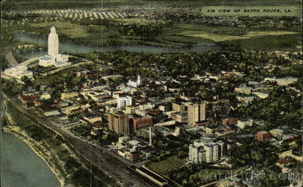 Aerial View of City Baton Rouge Louisiana