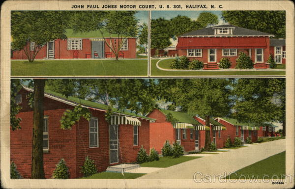 John Paul Jones Motor Court Halifax North Carolina