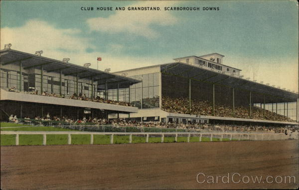 Club House and Grandstand at Scarborough Downs Maine