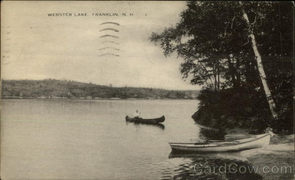 Scenic View of Canoe on Webster Lake Franklin New Hampshire
