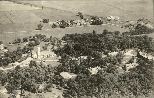Aerial View of Kenyon College Gambier Ohio