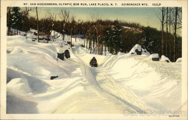Mt. Van Hoevenberg, Olympic Bob Run Lake Placid New York