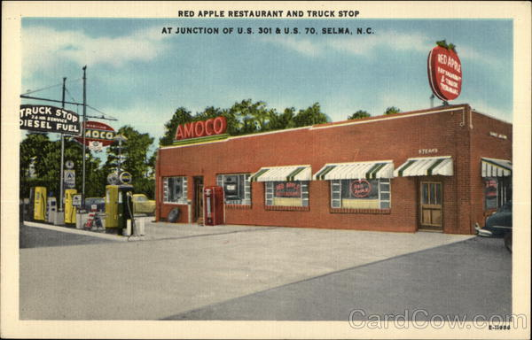 Red Apple Restaurant and Truck Stop Selma, NC Postcard