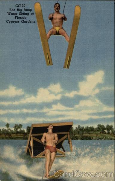 CG-20 The Big Jump Water Skiing at Florida Cypress Gardens Lakeland