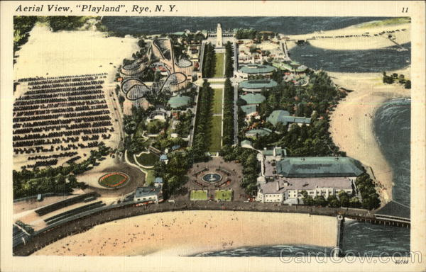 Aerial View of Playland Rye New York