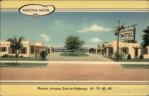 Phoenix-AZ-Arizona-Motel-Maricopa-County-MWM-Linen-Postcard-Vintage-Post-Card
