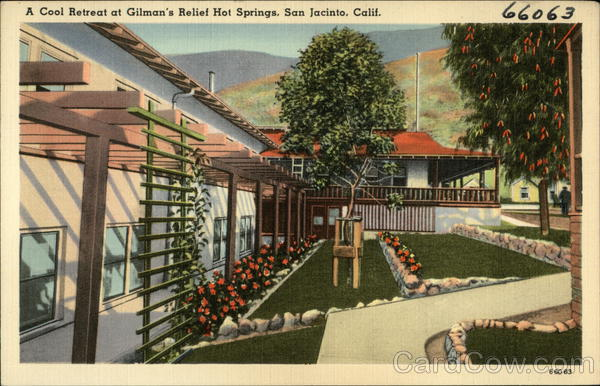 A Cool Retreat at Gilman's relief Hot Springs, San Jacinto, Calif. California