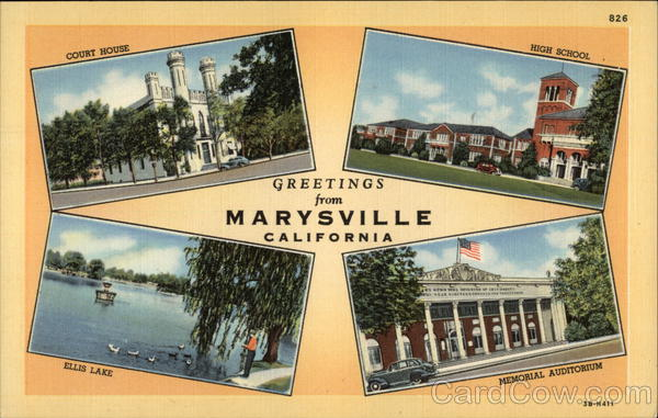 Greetings from Marysville California