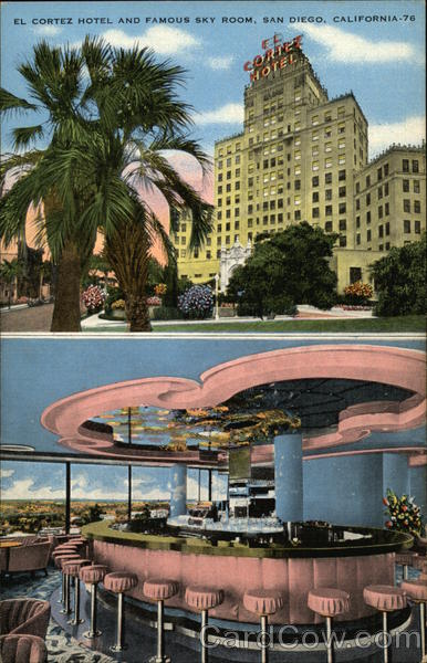 El Cortez Hotel and famous Sky Room San Diego California