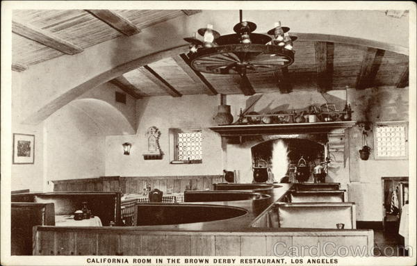 The Brown Derby Restaurant - California Room Los Angeles