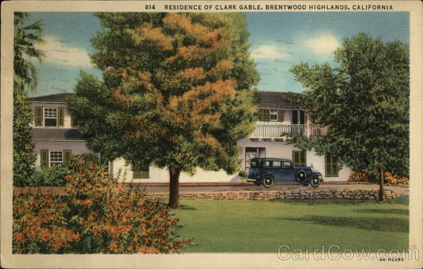 Residence of Clark Gable, Brentwood Highlands Brentwood Heights California