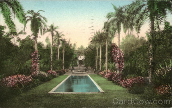Residence of Mr. and Mrs. Dewitt Parshall, Montecito - El Cielito Santa Barbara California