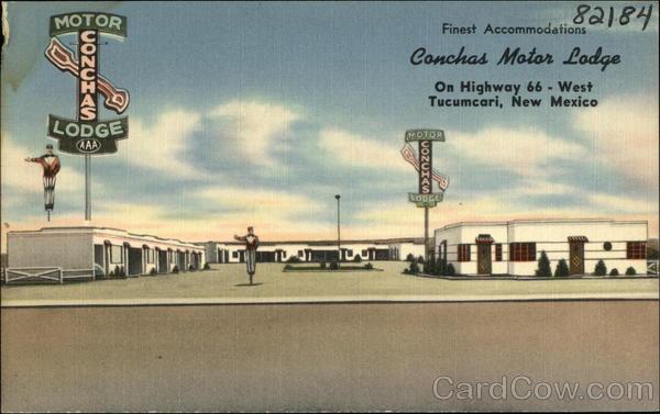 Conchas Motor Lodge Tucumcari New Mexico C. E. Redman