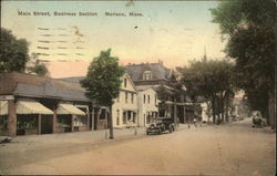 Main Street, Business Section Postcard