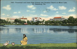 Vocational and Junior High Schools and Christian Church on Mirror Lake