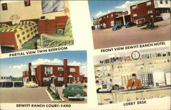 Dewitt Ranch Hotel and Motel Postcard