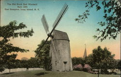 The Old North End Windmill - Built in 1805 Postcard