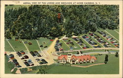 Aerial View of The Lodge and Grounds at Howe Caverns