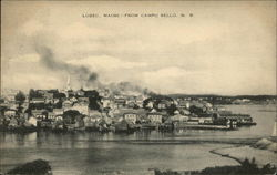 Lubec, Maine - From Campo Bello, N.B. Postcard