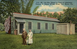 Mr. and Mrs. Edison in Front of Laboratory