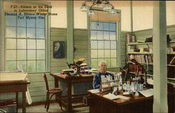 Edison at his Desk in Laboratory Office