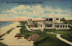 The Dolphin Restaurant and Marine Village Postcard