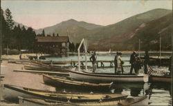 Boats At The Dock At Grand Lake