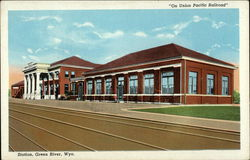 On Union Pacific Railroad Station