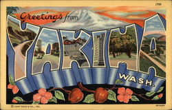 Greetings From, Scenes of Town in Letters, Mountain, Cherries