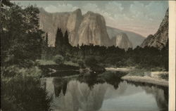 Cathedral Rocks and Reflection, Yosemite National Park